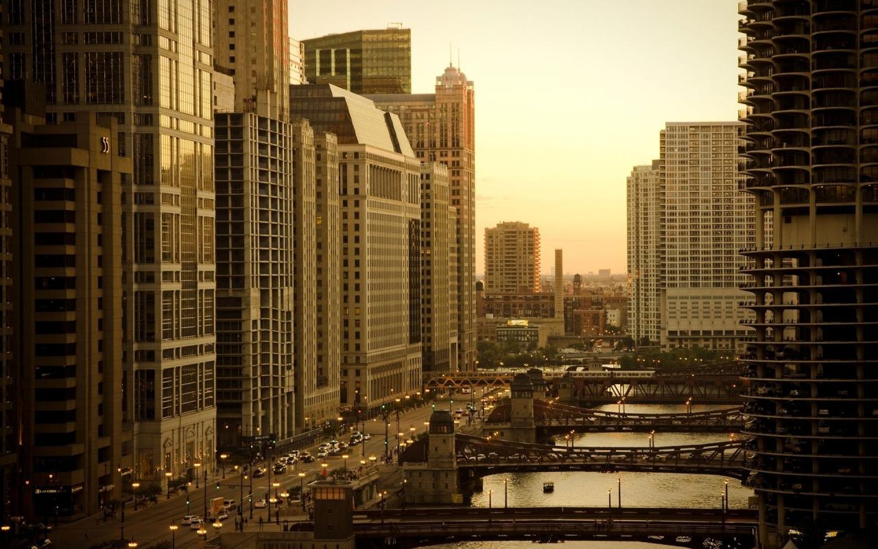 Chicago-Skyscrappers 1280 x 800