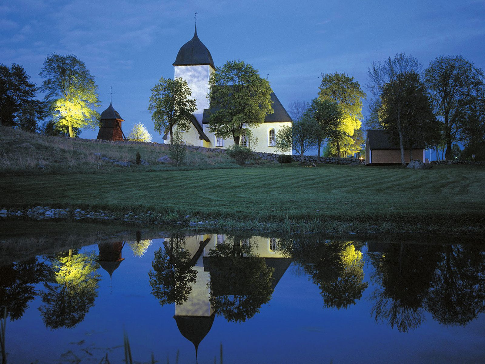 Church at Night Sweden