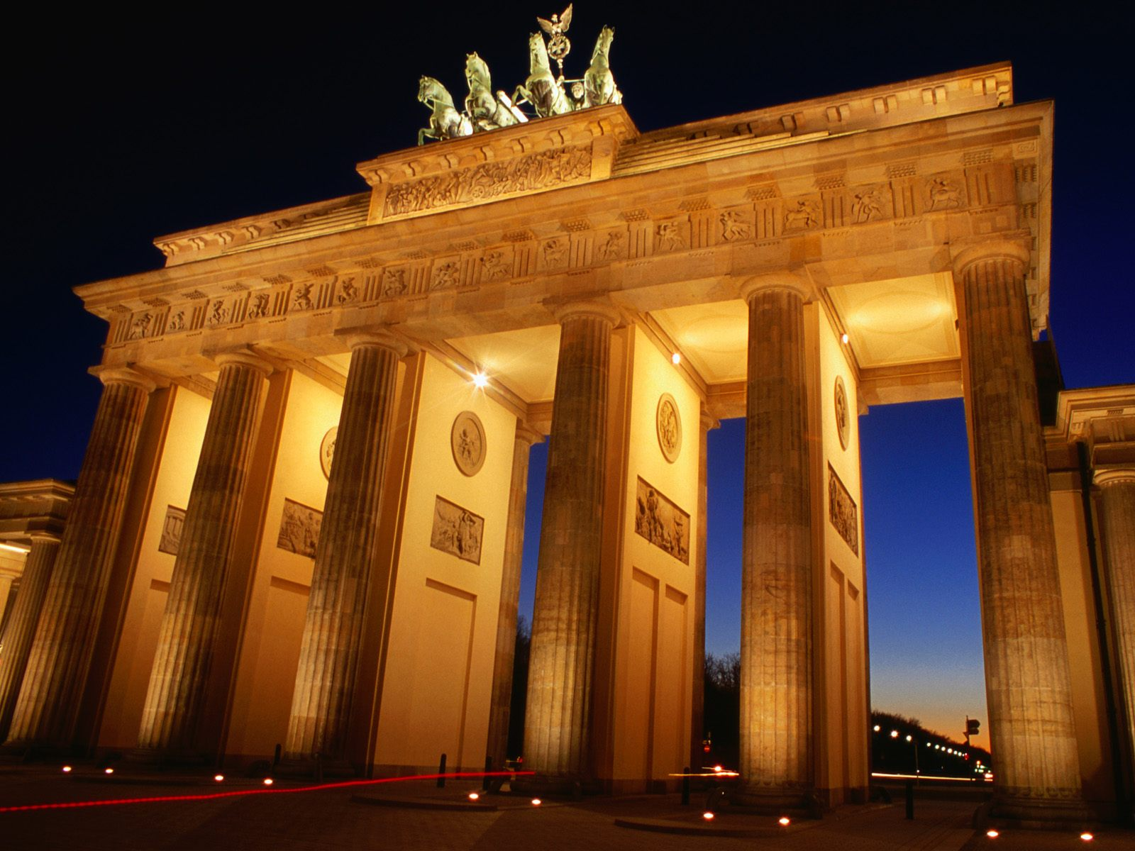 Brandenburg Gate at Dusk Berlin Germany