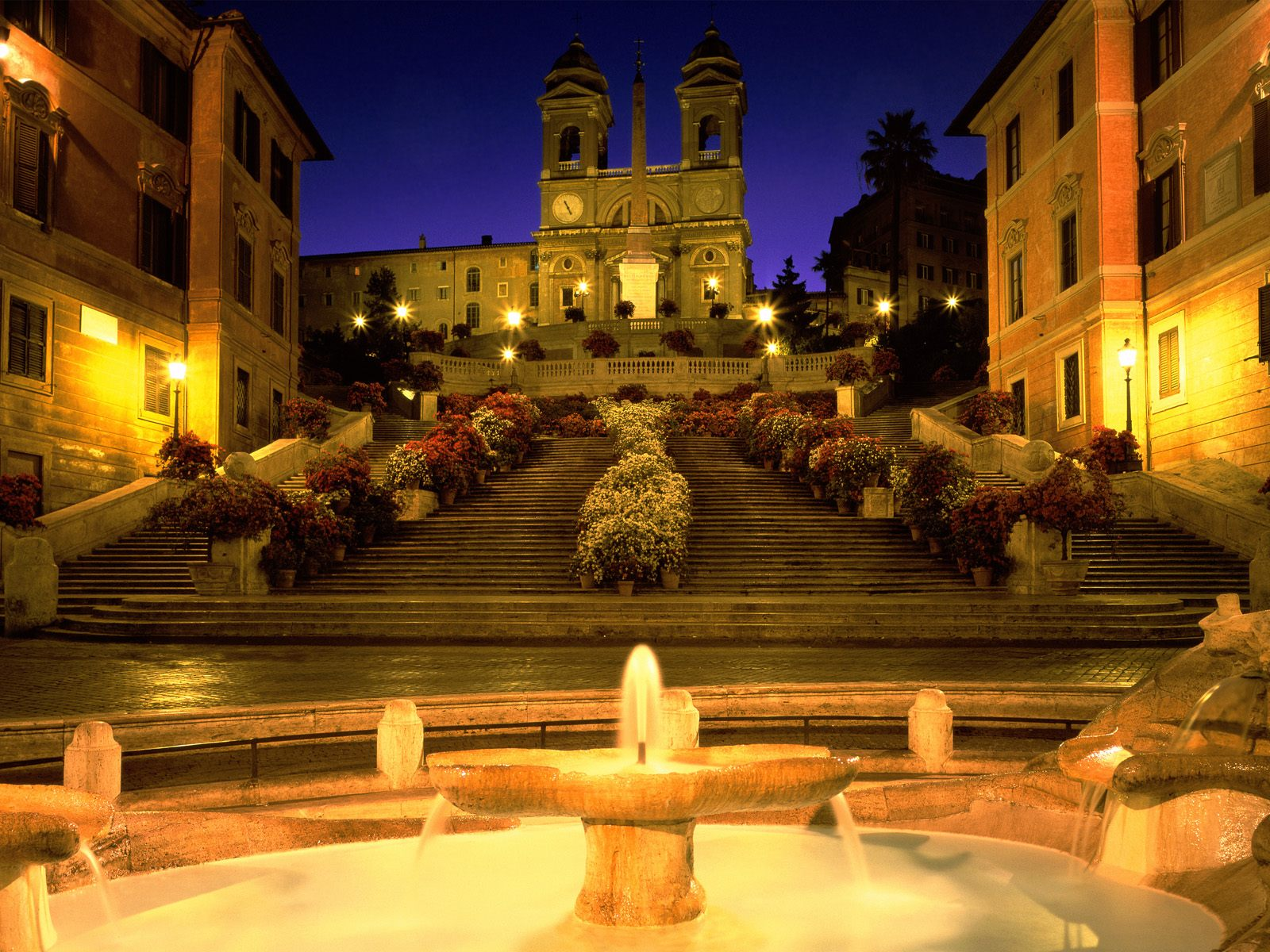 Trinita dei Monti Church Spanish Steps Rome Italy