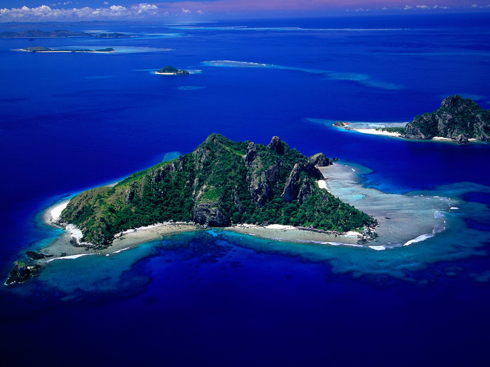 Lomaiviti Islands Fiji  city images : View of Monu Island Fiji picture, Aerial View of Monu Island Fiji ...