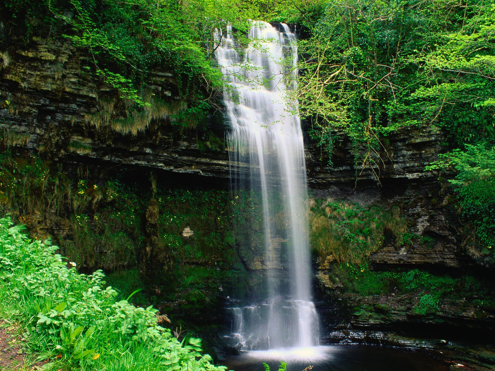 glencar waterfall ireland wallpaper - photo #1