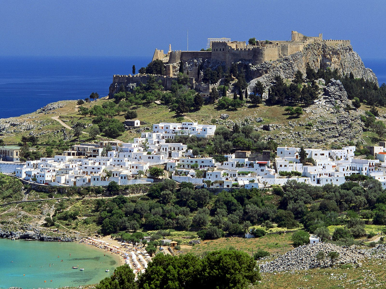 Lindos Rhodes Dodecanese Islands Greece