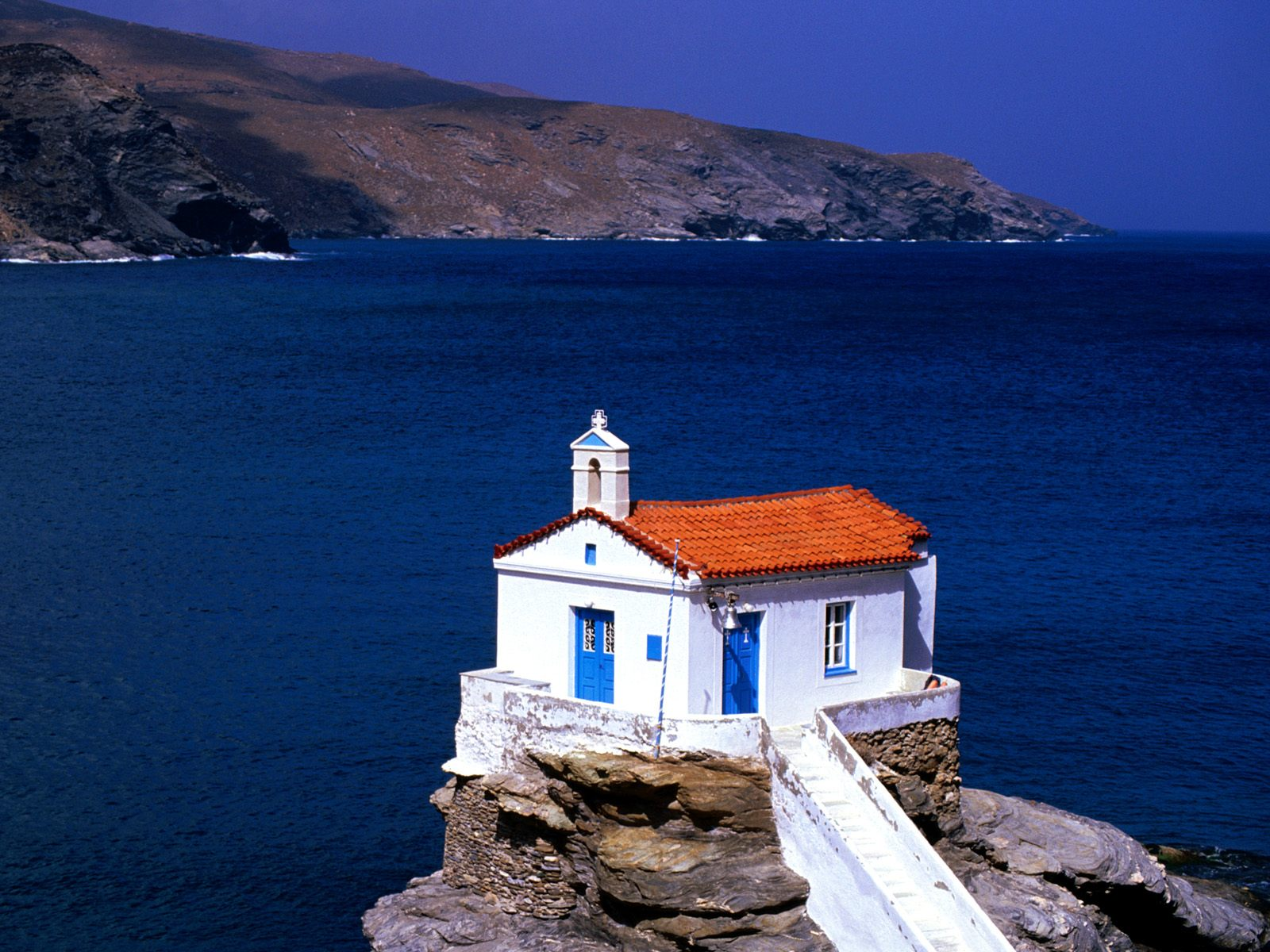 Thalassini Church Cyclades Islands Greece