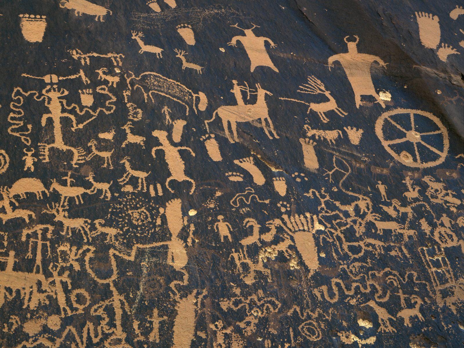 Classic Man Cave Art : Newspaper rock state historic park utah picture