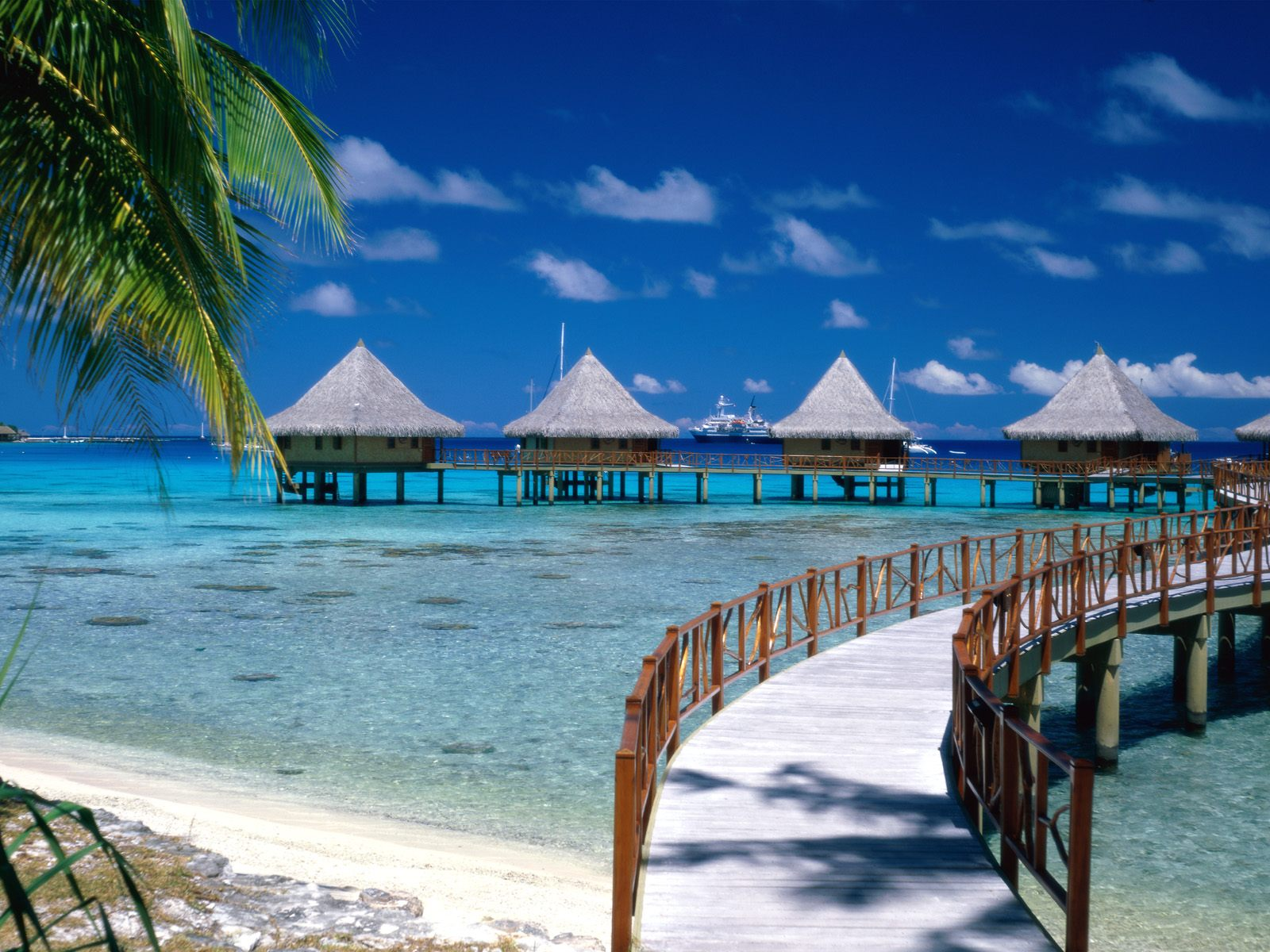 Walkway to Paradise Tiputa Rangiroa French Polynesia photo or wallpaper