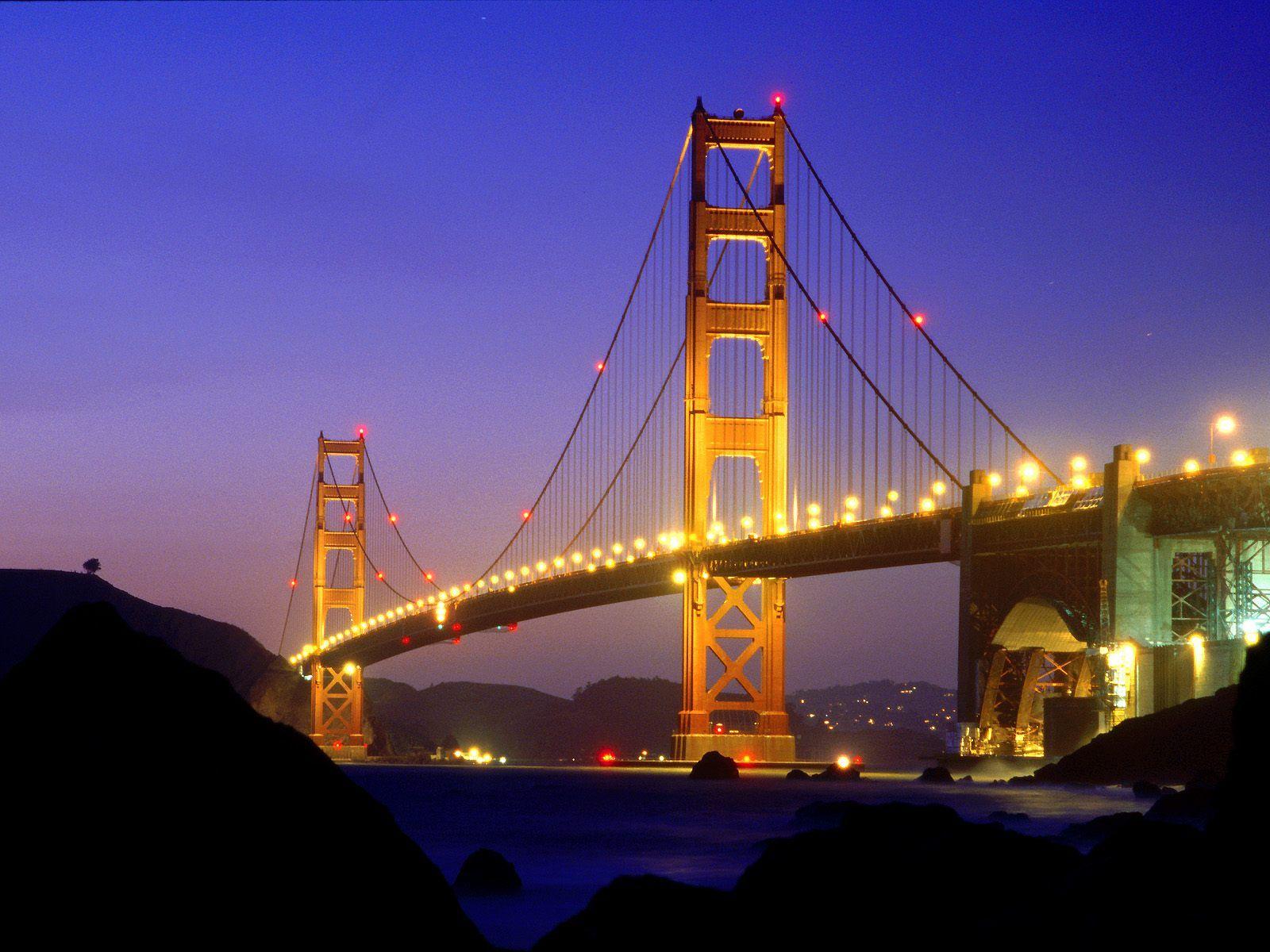 Printable coloring pages golden gate bridge - Golden Gate Bridge Cartoon From Baker