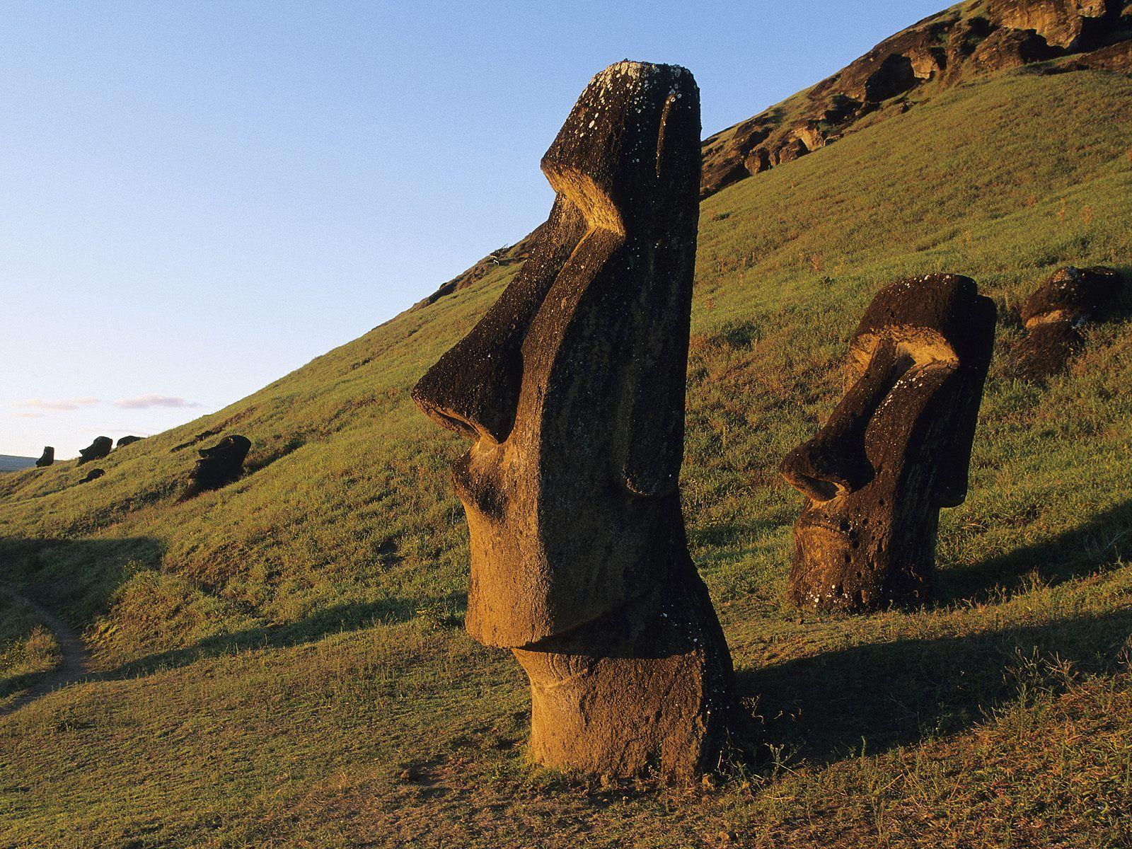 Moai Statues Easter Island Chile