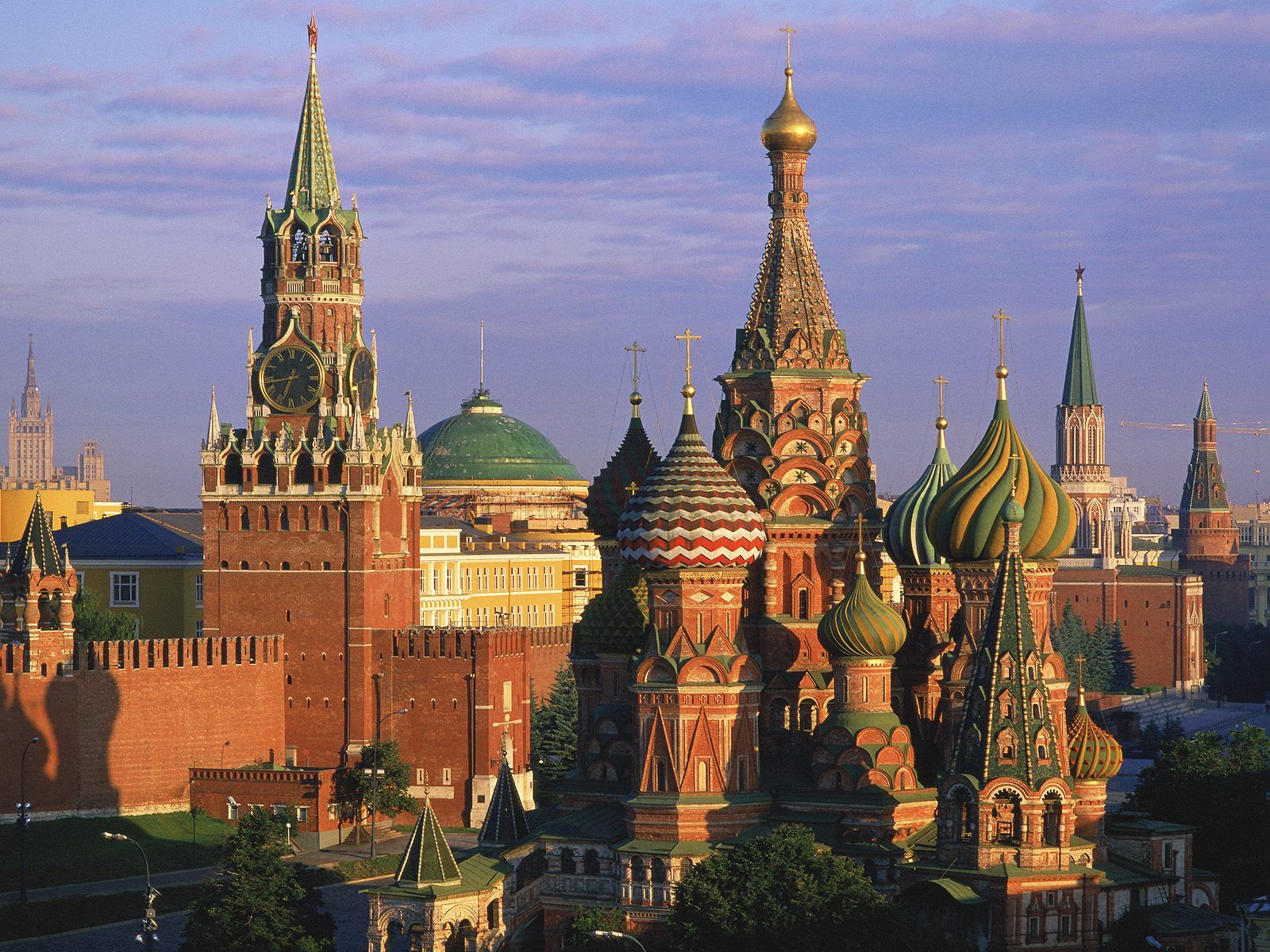St. Basil's Cathedral and Kremlin Moscow Russia