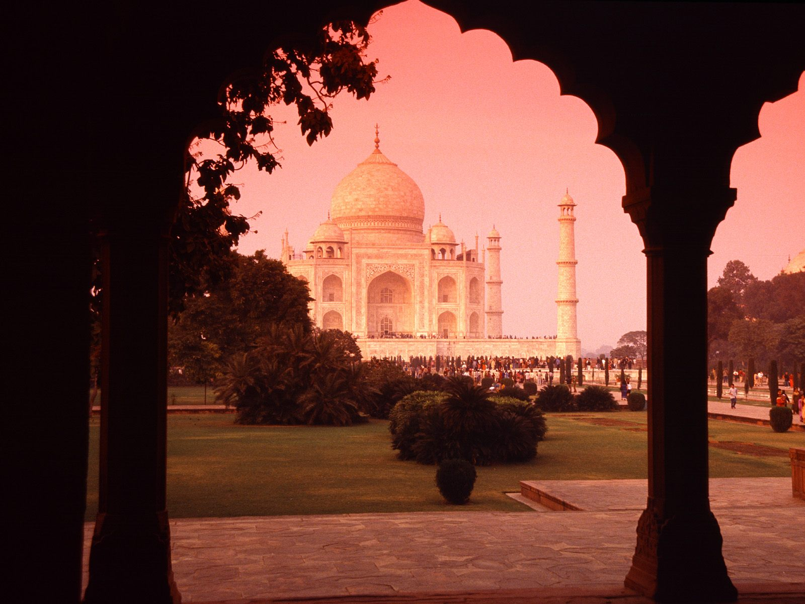 Architectural Wonder Taj Mahal India photo or wallpaper