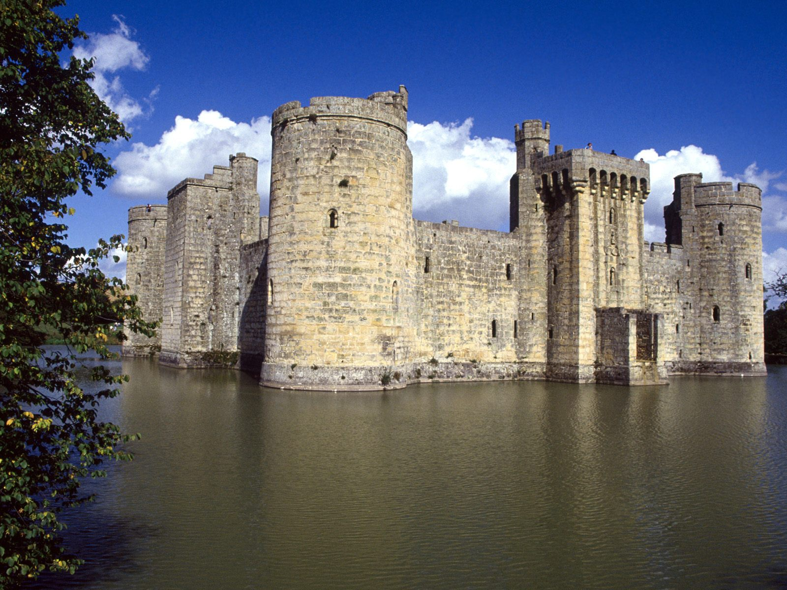 Bodiam Castle and Moat East Sussex England
