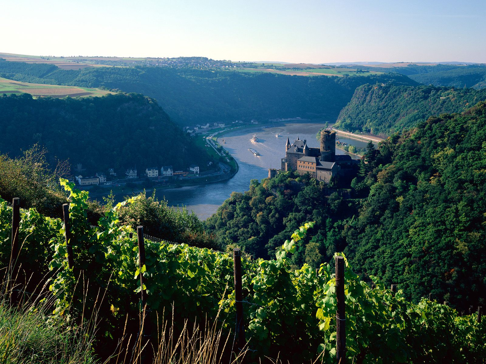 Burg Katz above the Rhine Germany