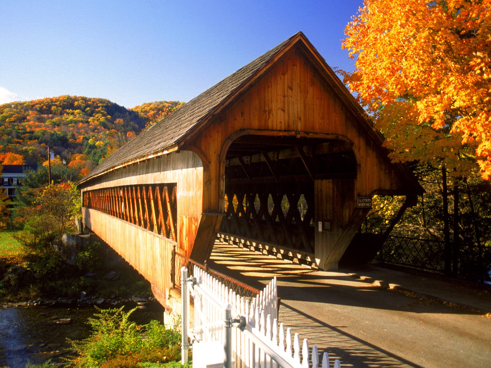 Covered Bridge Woodstock Vermont