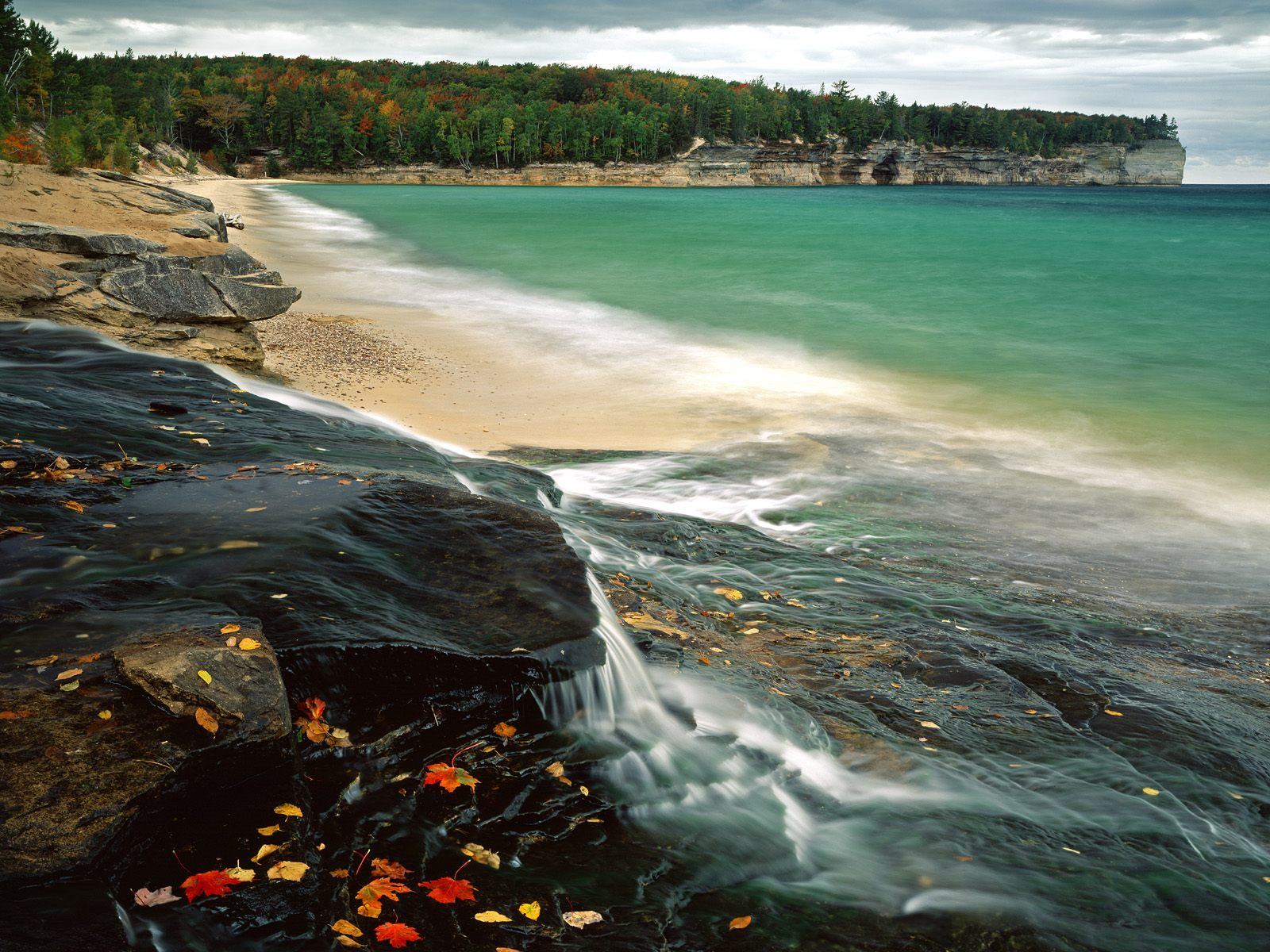 Chapel Beach Lake Superior Pictured Rocks National Lakeshore Michigan