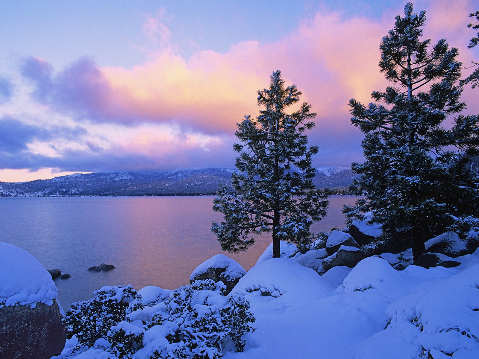 Colors of Winter Lake Tahoe picture, Colors of Winter Lake ...