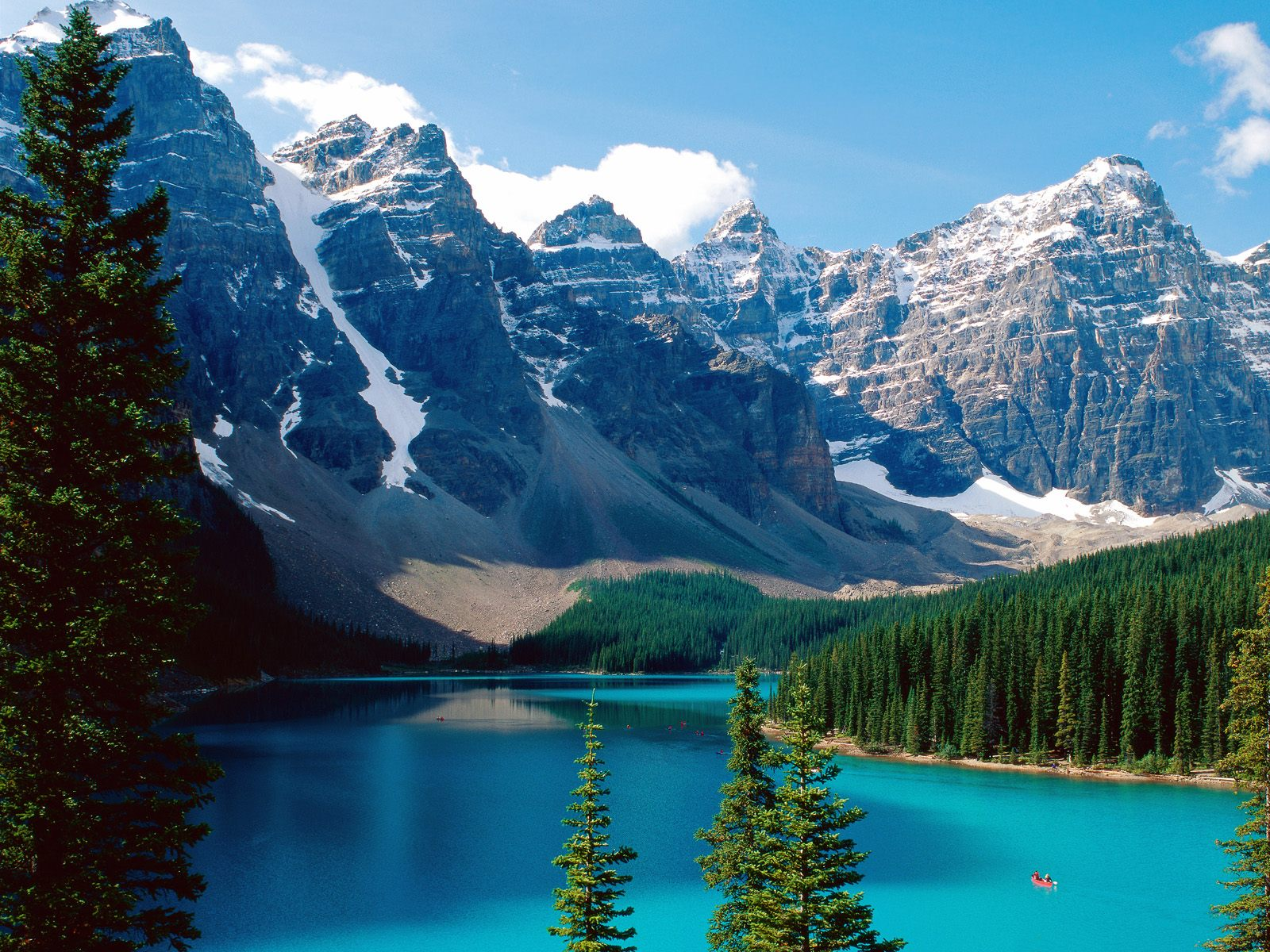 Moraine Banff National Park Canada озеро горы Wallpapers