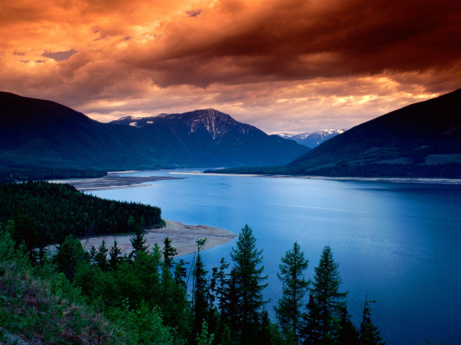 Upper Arrow Lake British Columbia Canada