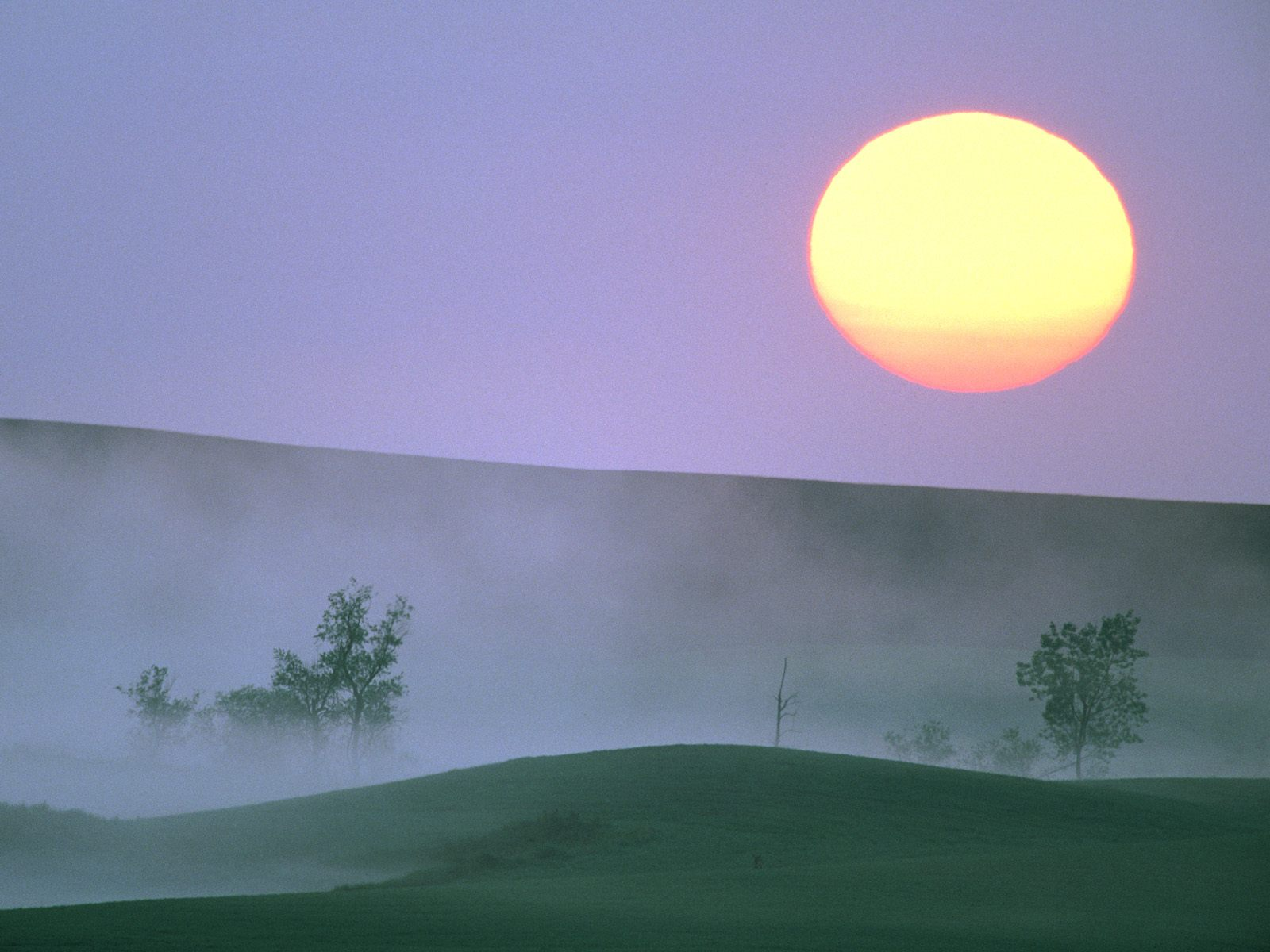 Misty Sunrise North Dakota