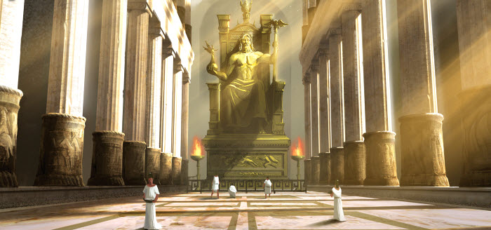 Statue of Zeus at Olympia 700 x 328