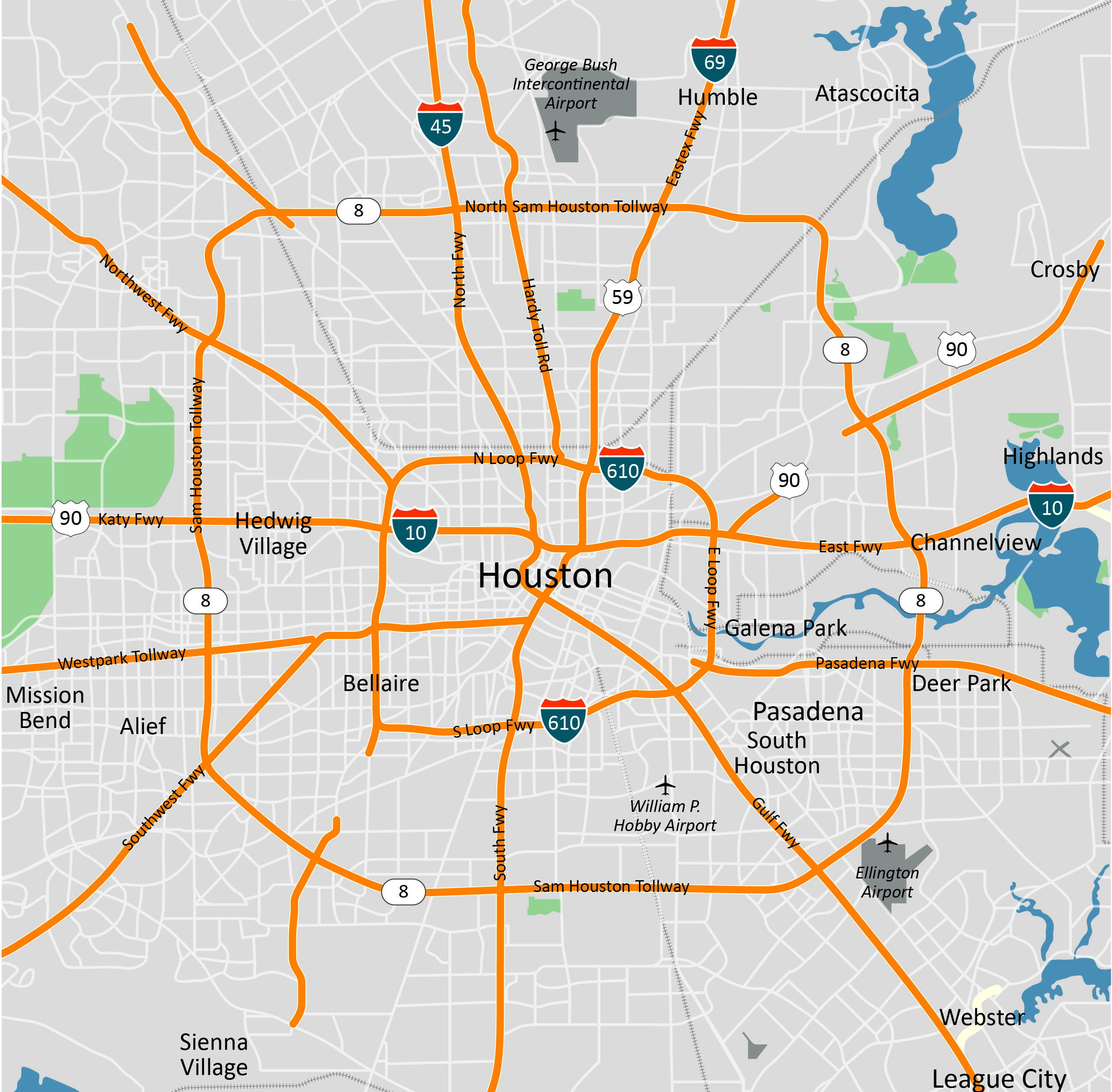 Houston overviewmap