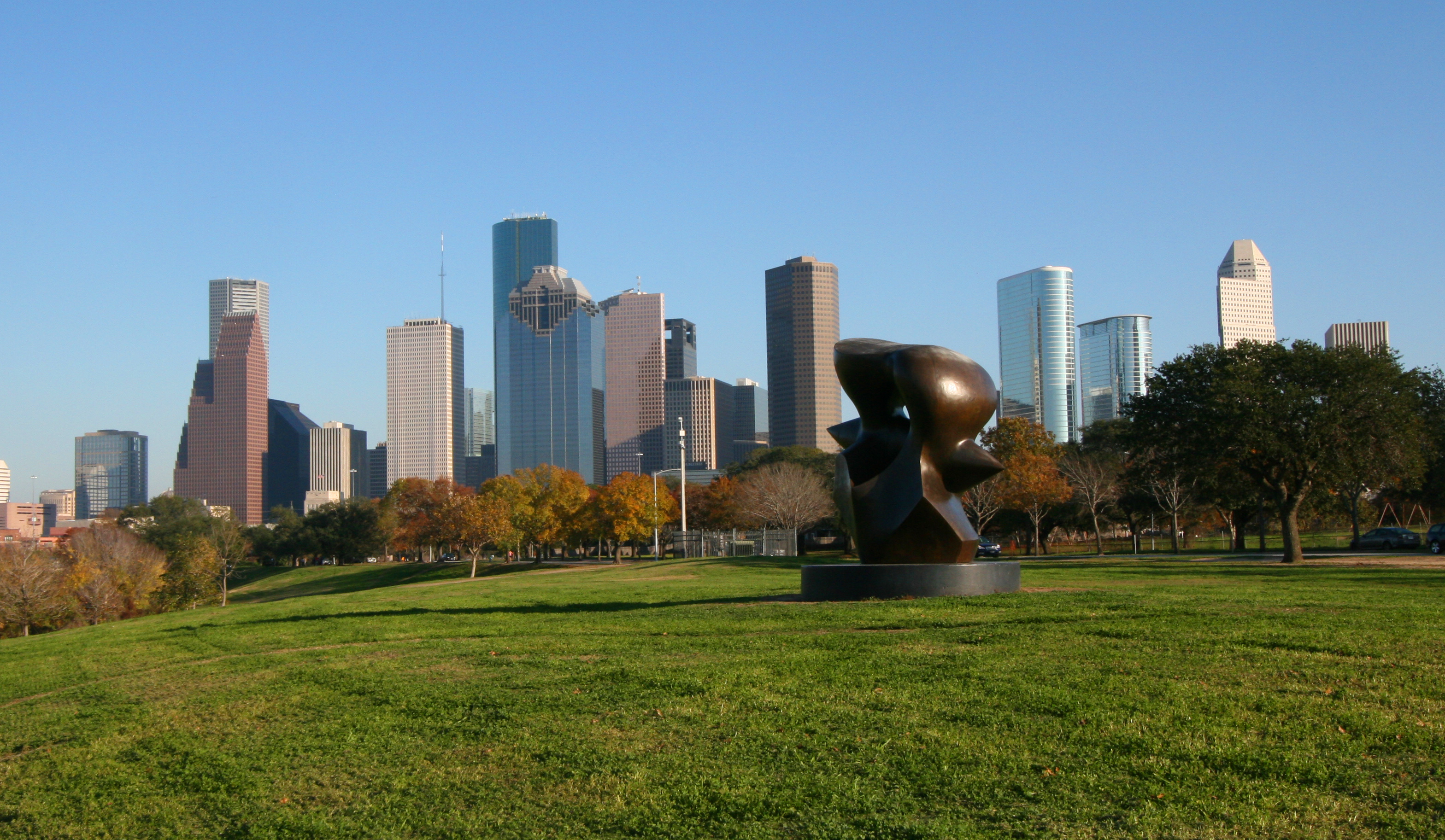 Houston Skyline Allen Parkway