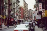 New York city Street in Chinatown