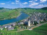 City of Bremm and Moselle River Germany
