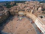 Aerial View of Piazza del Campo Siena Italy