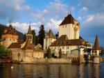 Oberhofen Castle Lake Thun Switzerland