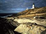 Sunrise light on Pemaquid Lighthouse New Harbor Maine