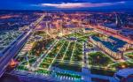 grozny city russia from above night view 1
